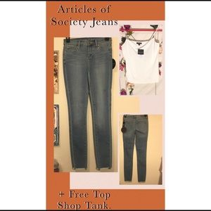FREE Topshop + Articles Of Society Skinny Jeans